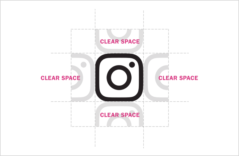 Instagram logo volné místo